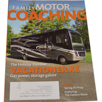 "This is the cover of ""Family Motor Coaching"" magazine - March 2017 Issue"