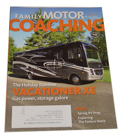 """This is the cover of """"Family Motor Coaching"""" magazine - March 2017 Issue"""