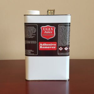 This is an image of one gallon of our Ugly Juice adhesive removal product