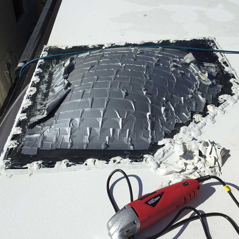 This is before RV Roof Replacement